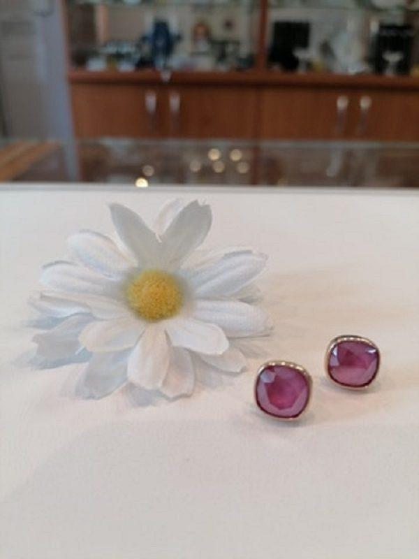 Ezüst rosegold pink swaro füli