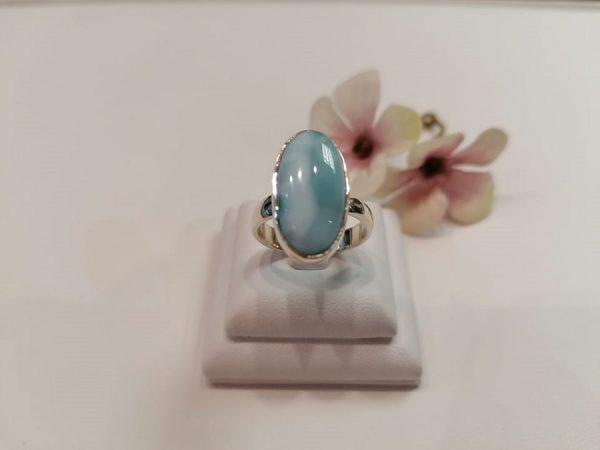 Ezüst larimár gyűrű
