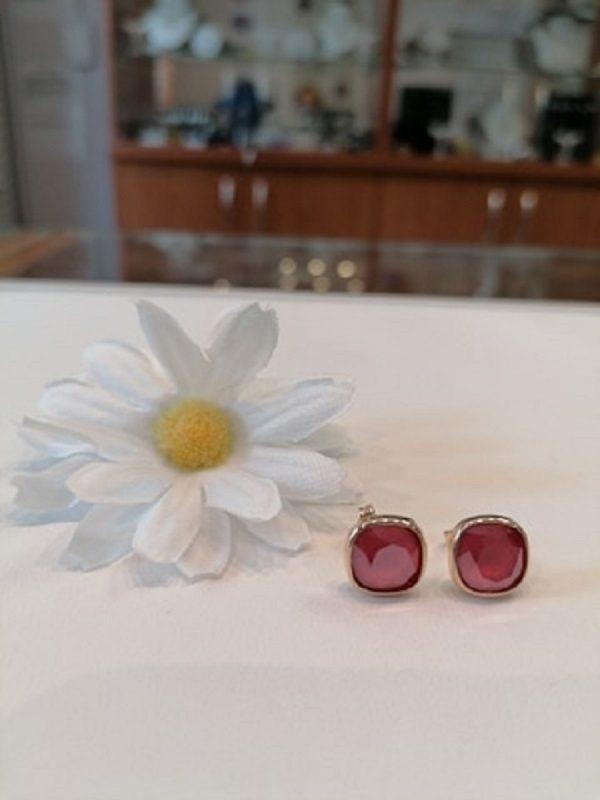 Ezüst-rosegold red swaro füli
