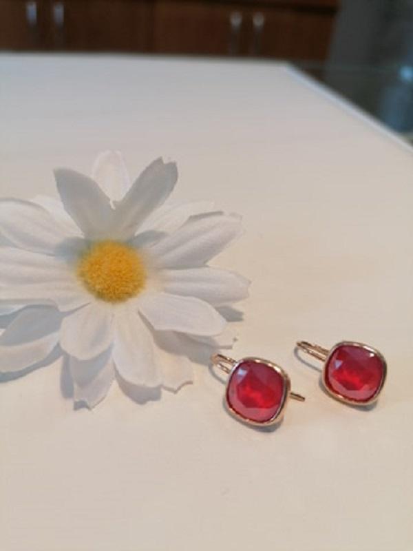 Ezüst- rosegold színes swaro füli